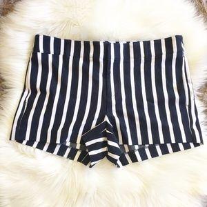 Banana Republic Navy Striped Shorts